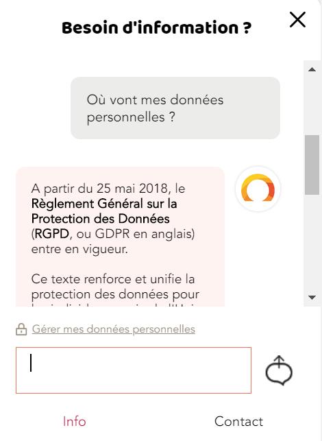 chatbot SNCF RGPD